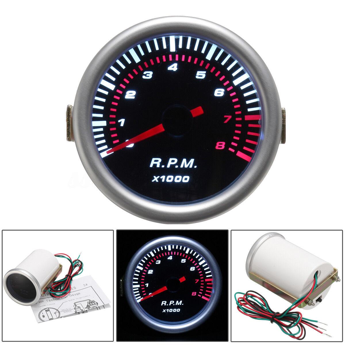 "Car Auto 2"" 52mm Universal Digital LED Tachometer Tacho Tester Gauge Meter RPM"
