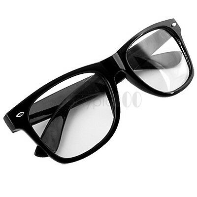 Men Women Unisex Clear Lens Black Frame Eyeglasses Glasses Spectacles Optical