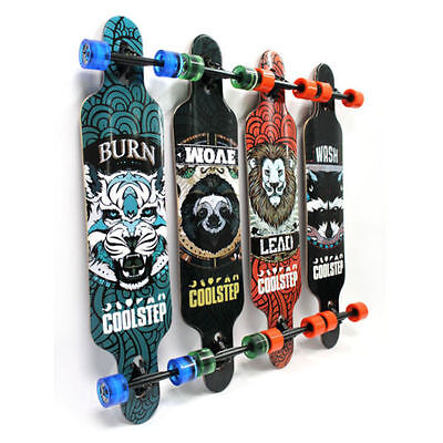 Longboard Skateboard drop through 107cm Skateboard ABEC 11in legno completamente