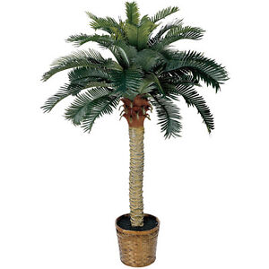4' Sago Silk Palm Tree - Realistic Fake Plants - TROPICAL Silk - NEW