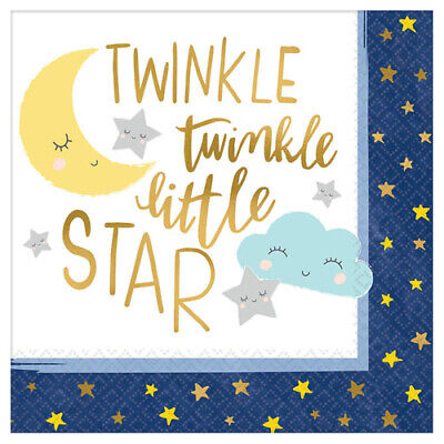 BABY SHOWER TWINKLE LITTLE STAR LUNCH NAPKINS (16) ~ Birthday Party -