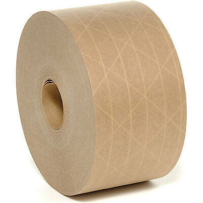 2 Rolls - Gum Tape Reinforced 2.75 X 375 Ft Kraft Paper Tape - New - Free Ship