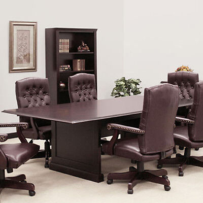 Traditional Boardroom Table And Chairs Set 8 - 24 Ft Conference Room With 10 12