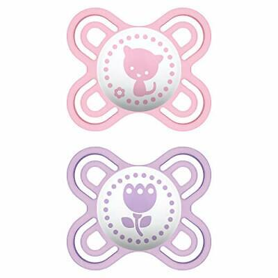 MAM Perfect Start Pacifiers, Orthodontic Pacifiers (2 pack) MAM Newborn (Girl)