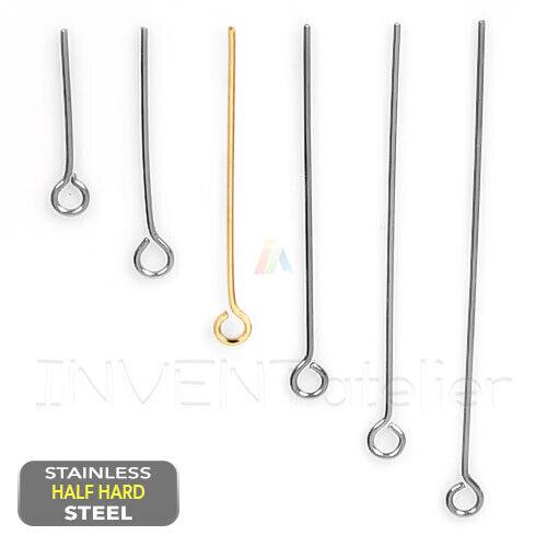 500 Silver Eye Pins 30mm Jewellery Making Findings