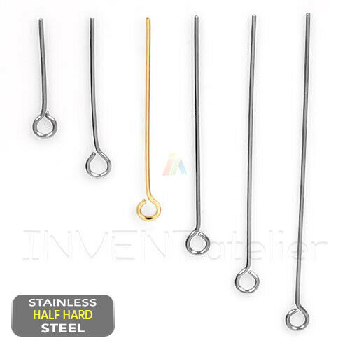 304 Stainless Steel Ball Head Pins Silver 35mm  30 Pcs AFindings DIY Jewellery