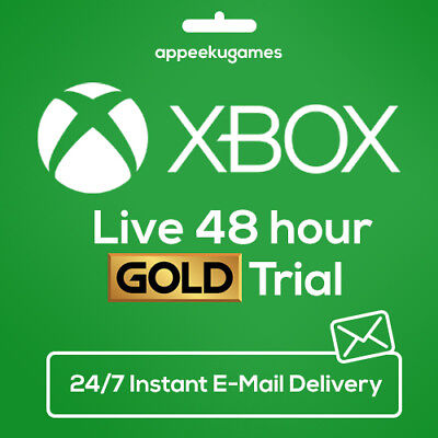 XBOX LIVE 48 HOUR 2 DAYS GOLD TRIAL CODE 48HR - INSTANT DISPATCH 24/7 for sale  Alhambra