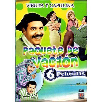 Paquete De Vacilon Viruta Y Capulina DVD NEW 6 Pk El Naco Mas Naco Y Mucho Mas!