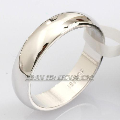 Plain White Gold Wedding Bands