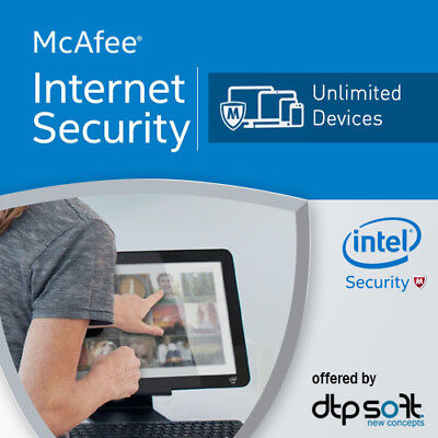 McAfee Internet Security 2021 Unlimited Devices / PC UNBEGRENZT Geräte 2021 DE