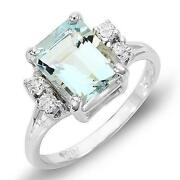 Aquamarine Ring White Gold