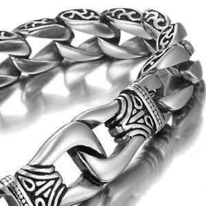 Mens Silver Bracelet Ebay