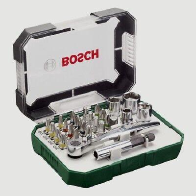 26pcs Bosch Premium Screwdriver Professional Ratchet Set Hand Tool Kit Screw