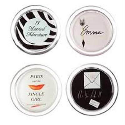 LENOX ~ KATE SPADE A Way With Words ~ Set of 4 COASTERS ~ Emma Paris As you like