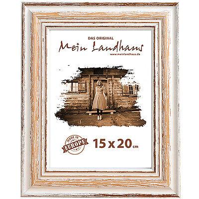 Echtholz Vintage Bilderrahmen Toskana im rustikalen Shabby-Chic Look Holz-Rahmen