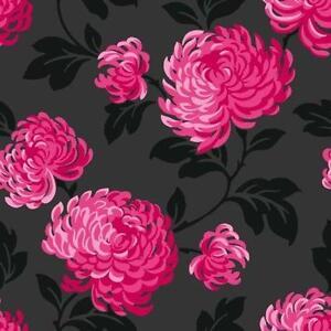 Flower wallpaper ebay black flower wallpaper voltagebd Gallery
