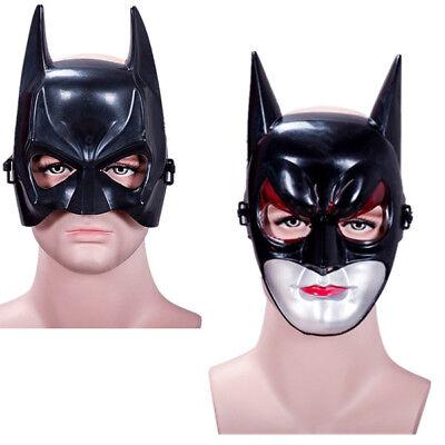 2 Styles Batman Mask Halloween Full Head Plastic Face Children Adult Masquerade - Halloween Batman Face