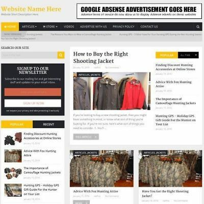Hunting Store - Professionally Designed Affiliate Website For Sale Domain