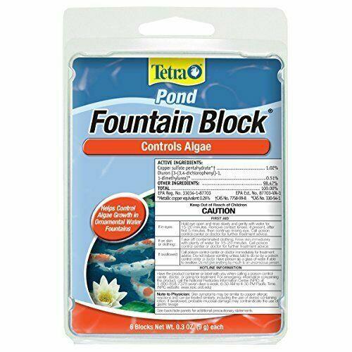 TetraPond Anti-Algae Control Blocks For Fountains 6-Count 6-Blocks - $6.99