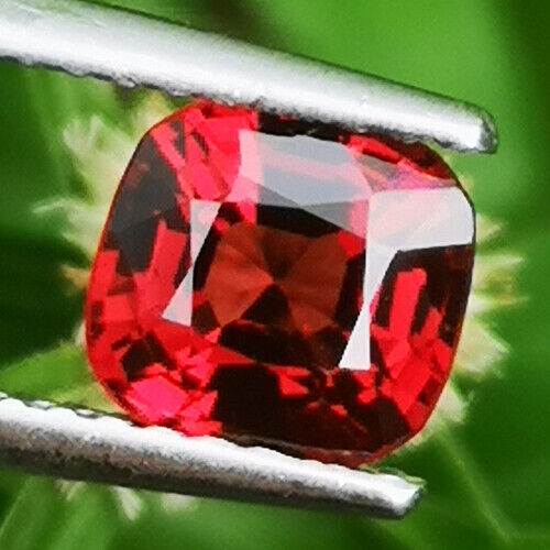UNHEATED 1.13CT NATURAL RED CUSHION SPINEL