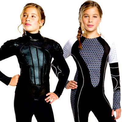 Katniss Girls Hunger Games Fancy Dress Kids Tweens World Book Week Day - Kids Hunger Games Costume