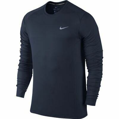Nike Dri Fit Long Sleeve Mens Football / Running / Training Top 2xl / Xxl Black