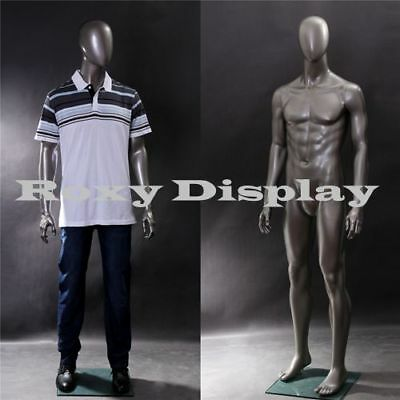 Male Fiberglass Egghead Mannequin Dress From Display Mz-ae05
