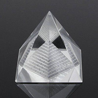- 1Pcs Crystal Pyramid Egypt Egyptian Clear Quartz Stone Orgone Healing Large