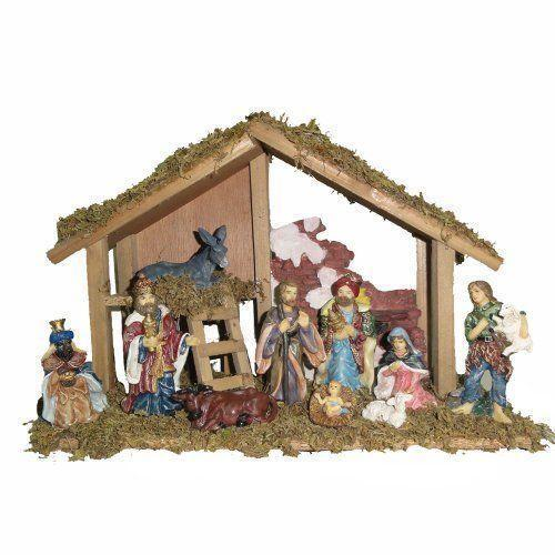 Nativity Set With Stable Ebay