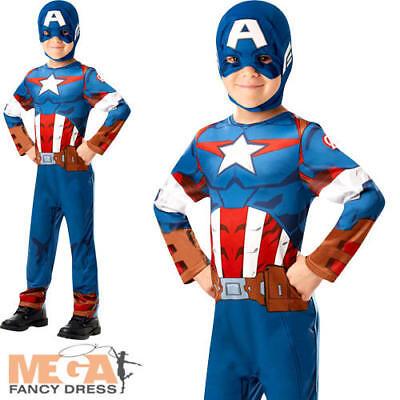 Captain America Infinity War Boys Fancy Dress Superhero Avengers Kids Costume