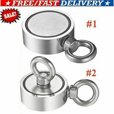 500700lb Pulling Force Round Double Sided Super Strong Neodymium Fishing Magnet