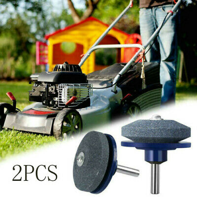 2PC Lawn Mower Sharpener Faster Blade Grinding Power Drill Garden Tool Universal Home & Garden