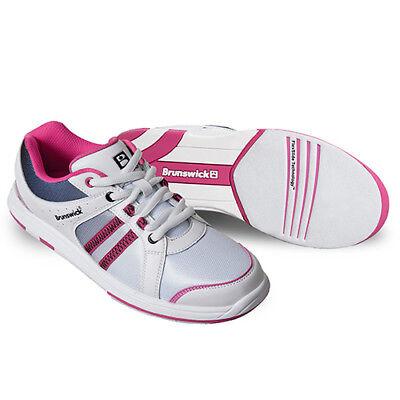 New Brunswick Women's Sienna White/Black/Hot Pink Bowling Shoes Size 9.5 ()
