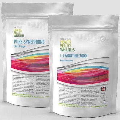 500 Tabletten (Vegan!) - L-Carnitin + Synephrin - Diät Fettreduktion Fatburner