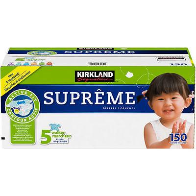 Kirkland Signature Supreme Diapers Size 5 150 Ct SEALED!!!