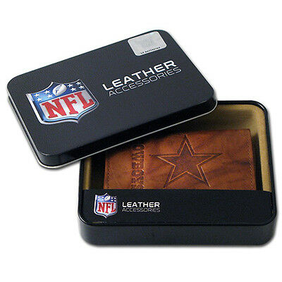 Dallas Cowboys Nfl Embossed Leather Trifold Wallet   New