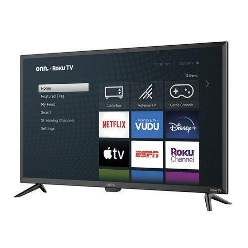 "Onn 32"" Inch 720P HD LED Roku Smart TV Wireless Wifi Streaming Netflix Hulu"