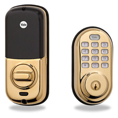 Yale Z Wave Security Yrd210 Zw 605 Real Living Keyless Push Button Deadbolt Lock