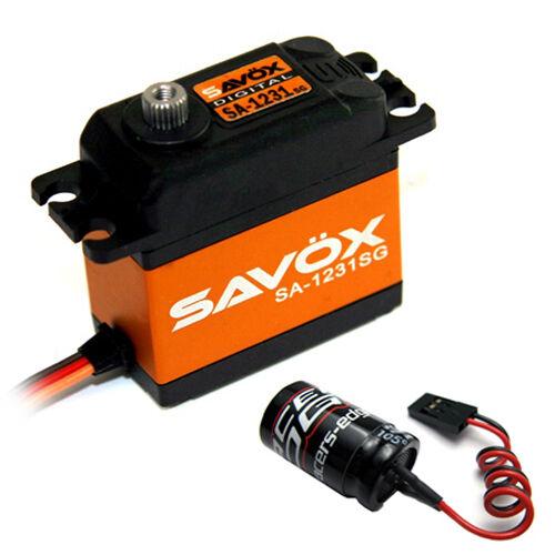 Savox SA1231SG High Torque Coreless Steel Gear Digital Servo  Glitch Buster