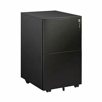 Devaise 2 Drawer Mobile File Cabinet With Lock Metal Filing Cabinet For Legall