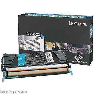 -  New ! GENUINE Lexmark  C534 Extra High Yield Cyan Toner C5340CX