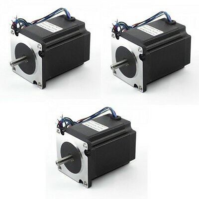 3 Pcs New Nema23 Stepper Motor 270 Oz-in Dual Shaft