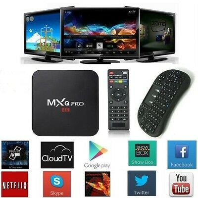 MXQ Pro 4K S905 Android Smart TV Box Quad Core 1G+8G WIFI Movie + Fly Mouse