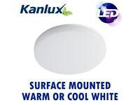 18W & 24W Kanlux Varso IP54 LED 2D Bulkhead Ceiling Wall Light Warm Cool White