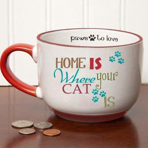 Tumbleweed Pottery Home is Where Your Cat Is Gift Box Stoneware Mug
