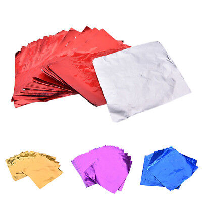 100pcs Square Foil Wrappers For Candy Chocolate Sweets Confectionery RGF Foil Chocolate Wrappers