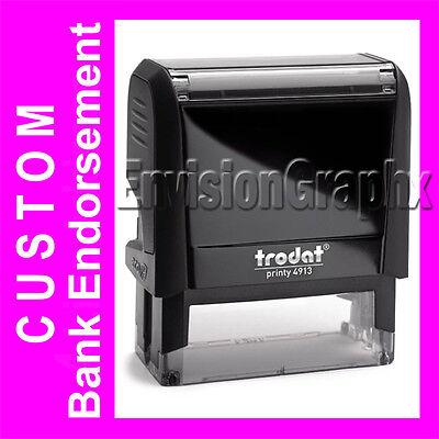 Custom Bank Endorsement Self Inking Rubber Stamp Trodat 4913