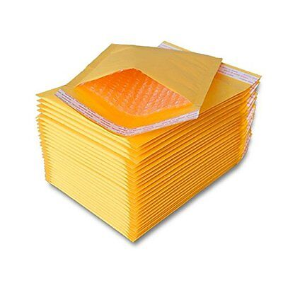 250 Pcs 0 Kraft Bubble Padded Self-sealing Envelopes Mailers 6x10 Inner 6x9