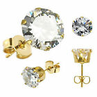 Cubic Zirconia Stud Gold Earrings & Studs for Men