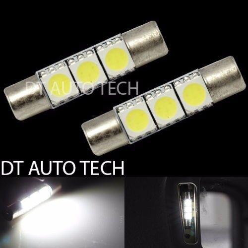 10X 28mm 4014 SMD 6 LED White Sun Visor Vanity Mirror Fuse Light Bulbs 20892